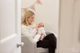 newborn with mum
