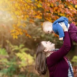 Mum and Baby Autumn