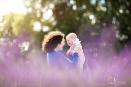 Mum and Baby in Lavender Field