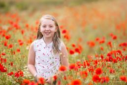 Girl in Poppy Field - Surrey Photography
